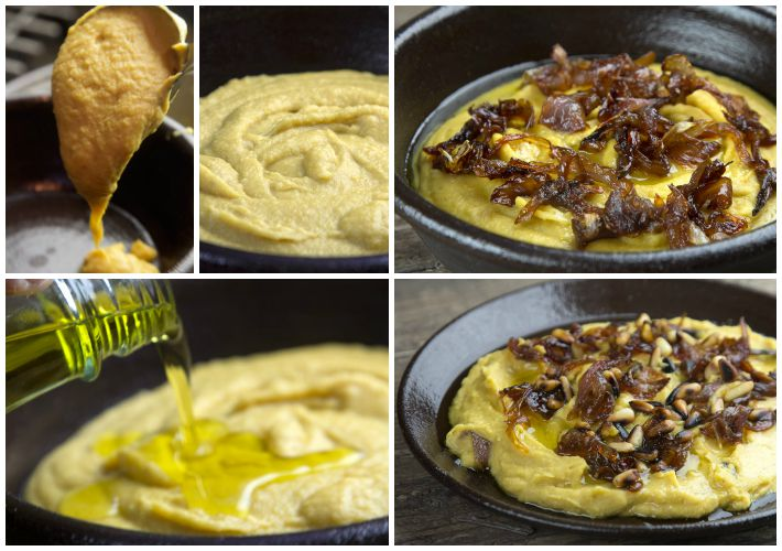 Greek FAVA dip with caramelised onions and toasted pine nuts9