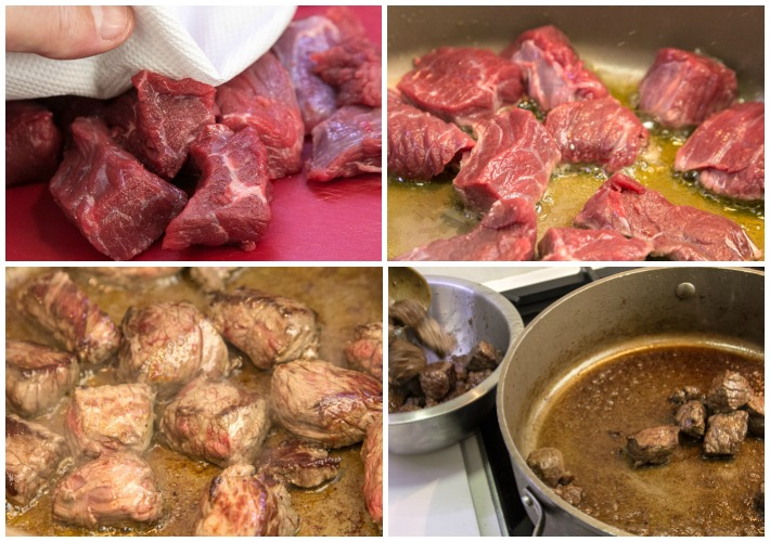 Beef with smoky aubergine puree - Hunkar Begendi