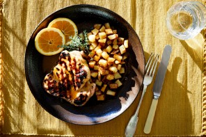 Chicken in Honey, Orange and Metaxa Sauce