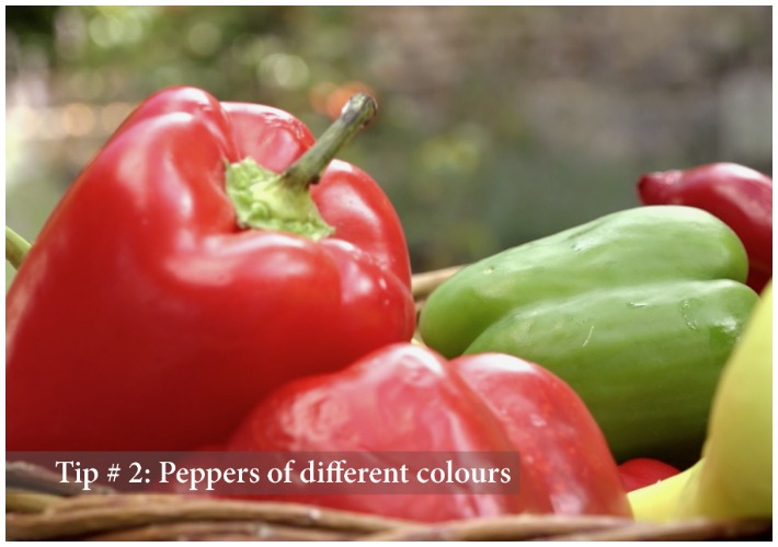 Authentic Greek Salad Tips - Tip 2 peppers