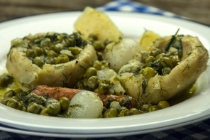 Artichokes a la Polita:  a delicious, traditional, Greek vegan dish